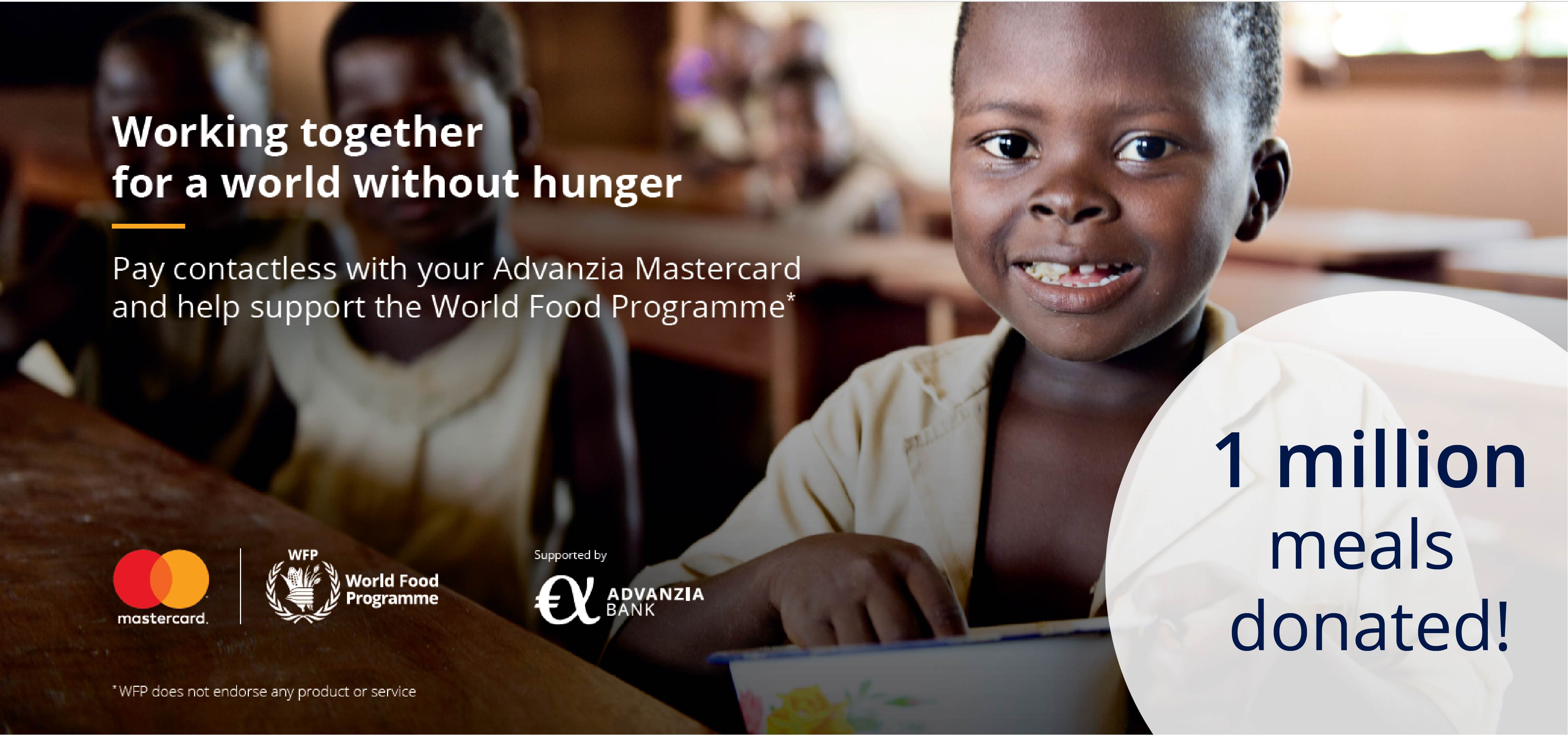 Advanzia and Mastercard donate 1 million meals to children in need